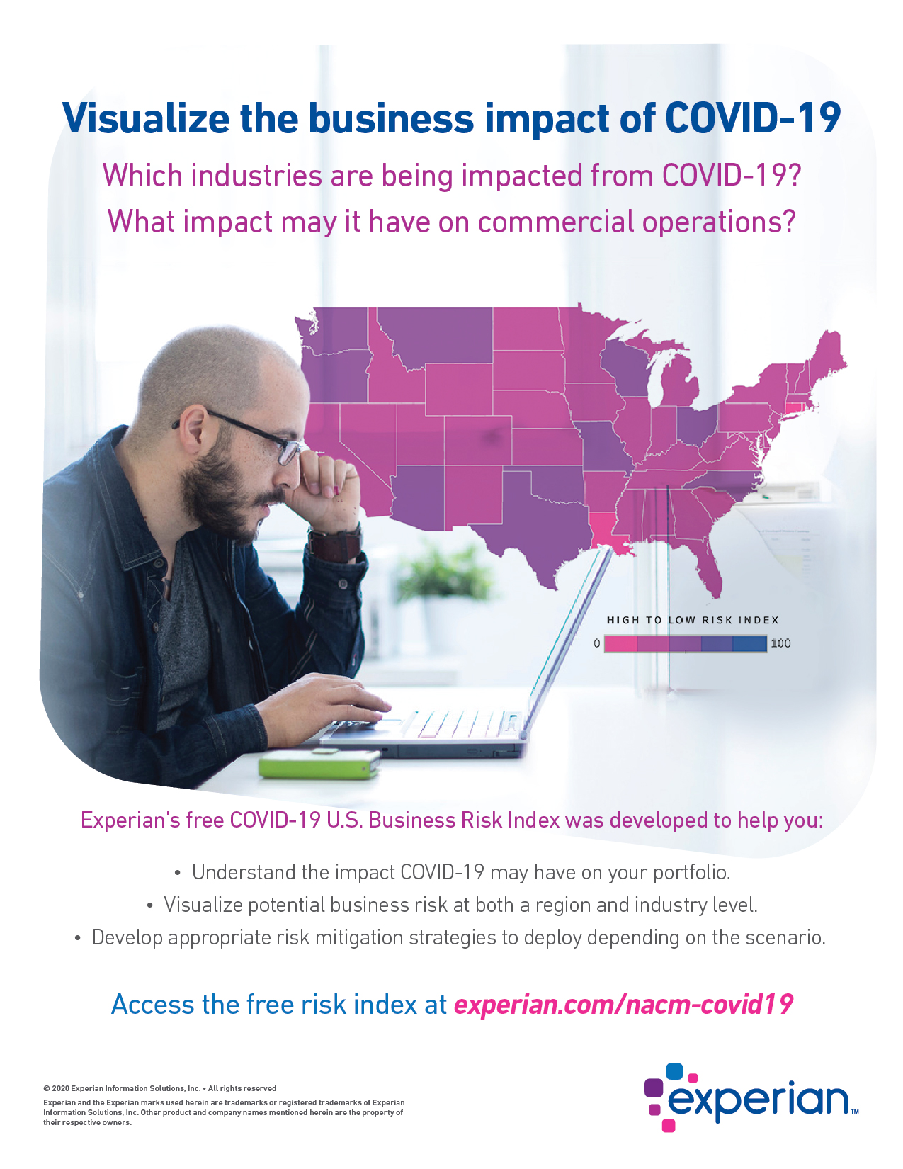 Visualize the business impact of COVID-19
